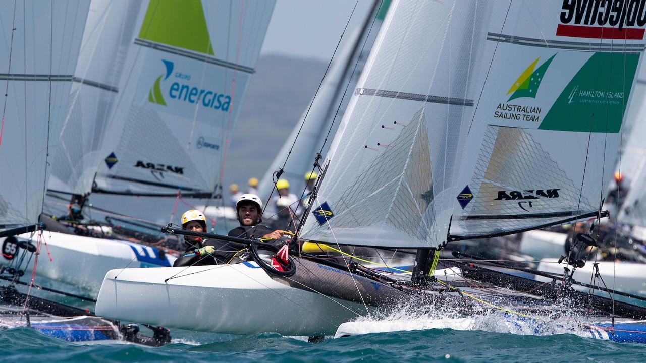 Australians Jason Waterhouse and Lisa Darmanin leading by example in New Zealand. Pic: Matias Capizzano/World Sailing.