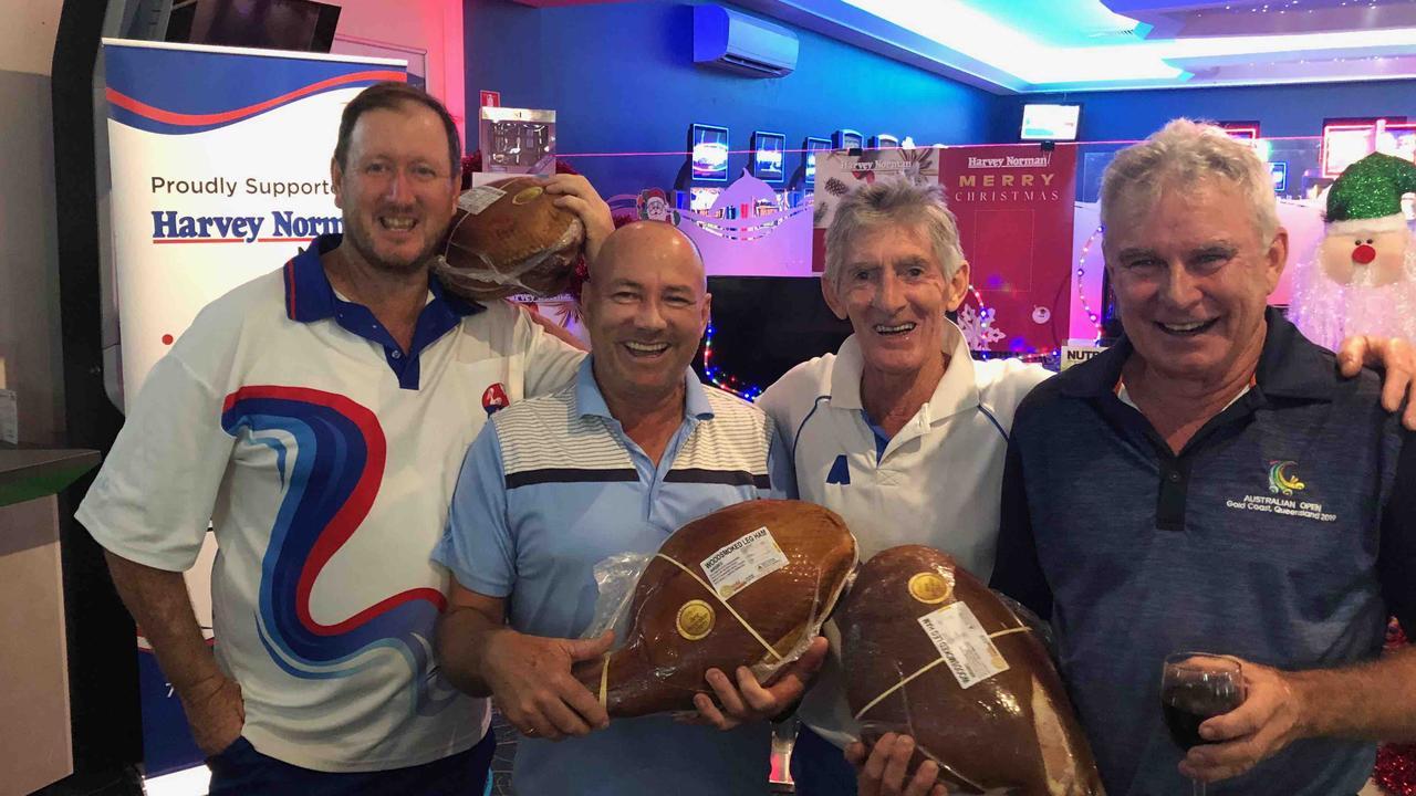 WINNERS: The victorious fours team at Tewantin Noosa. Brett Clark, Scott Roney, Dave Deane, Tony McAnelly.