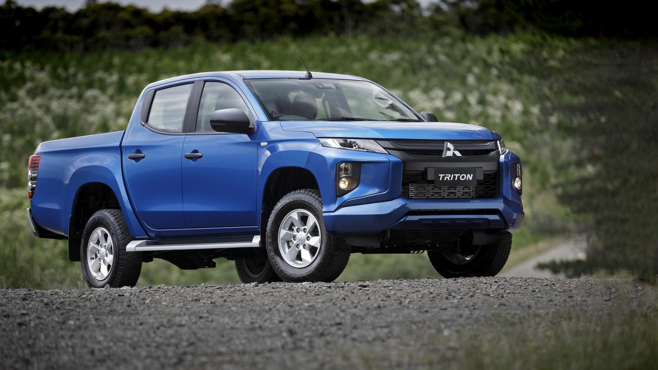 The 2020 model Mitsubishi Triton GLX+.