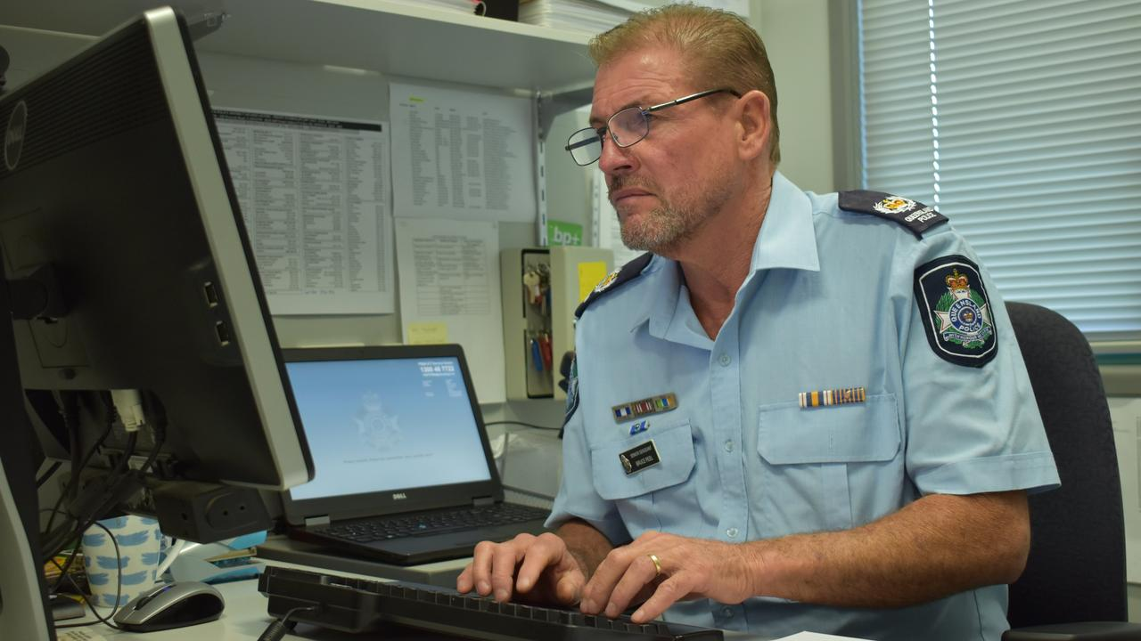 DANGEROUS BEHAVIOUR: Senior Sergeant Bruce Peel said drivers were being nabbed for touching their phones while driving.