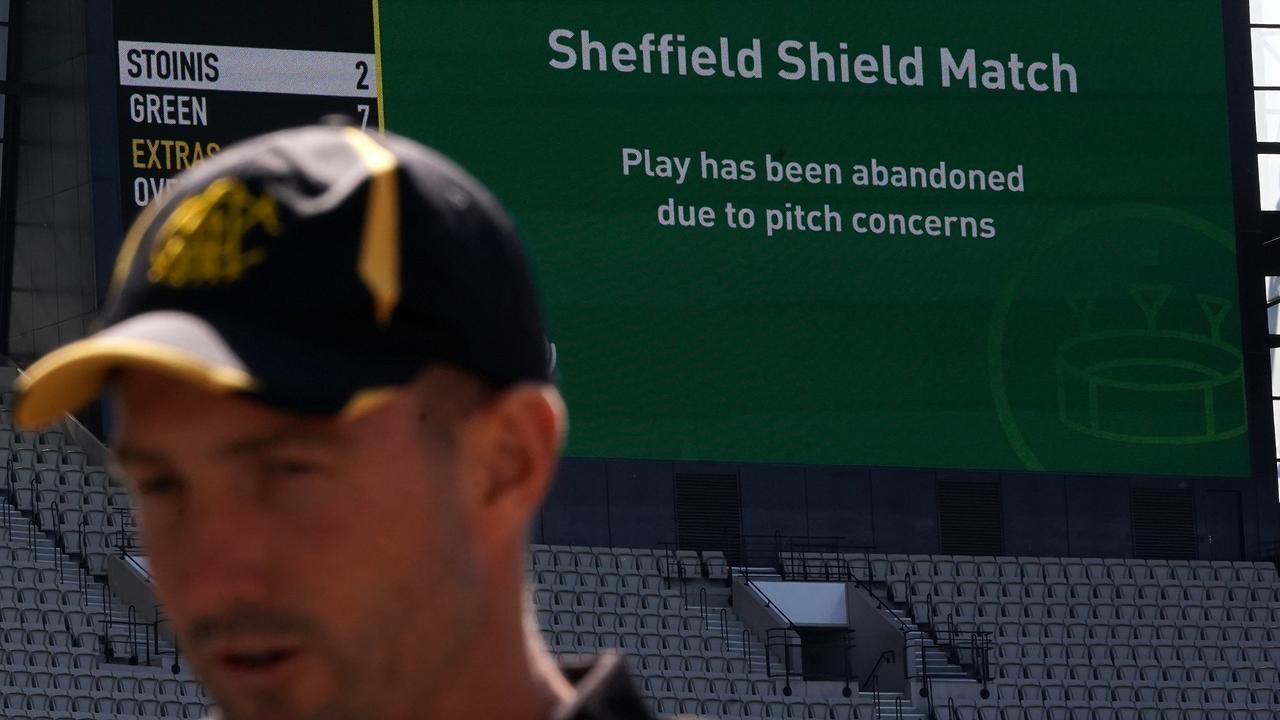 Western Australian Cricket Captain Shaun Marsh copped the brunt of the bounce.