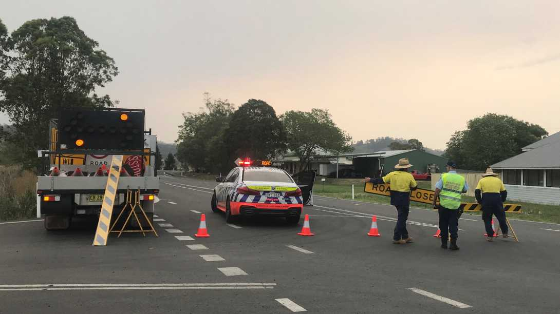 Kyogle Road has closed at Tuncester due to a crash, with traffic diverted along Rosehill Road.