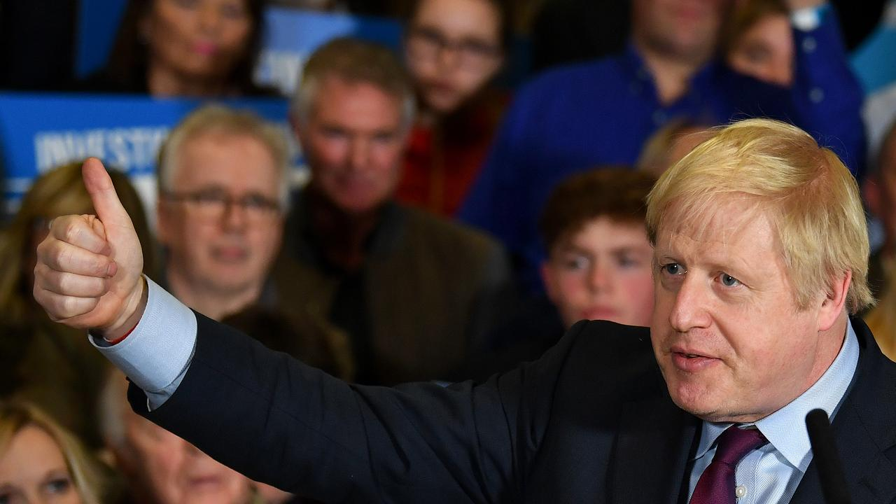 Boris Johnson has won the general election. Picture: Ben Stansall – WPA Pool/Getty Images.