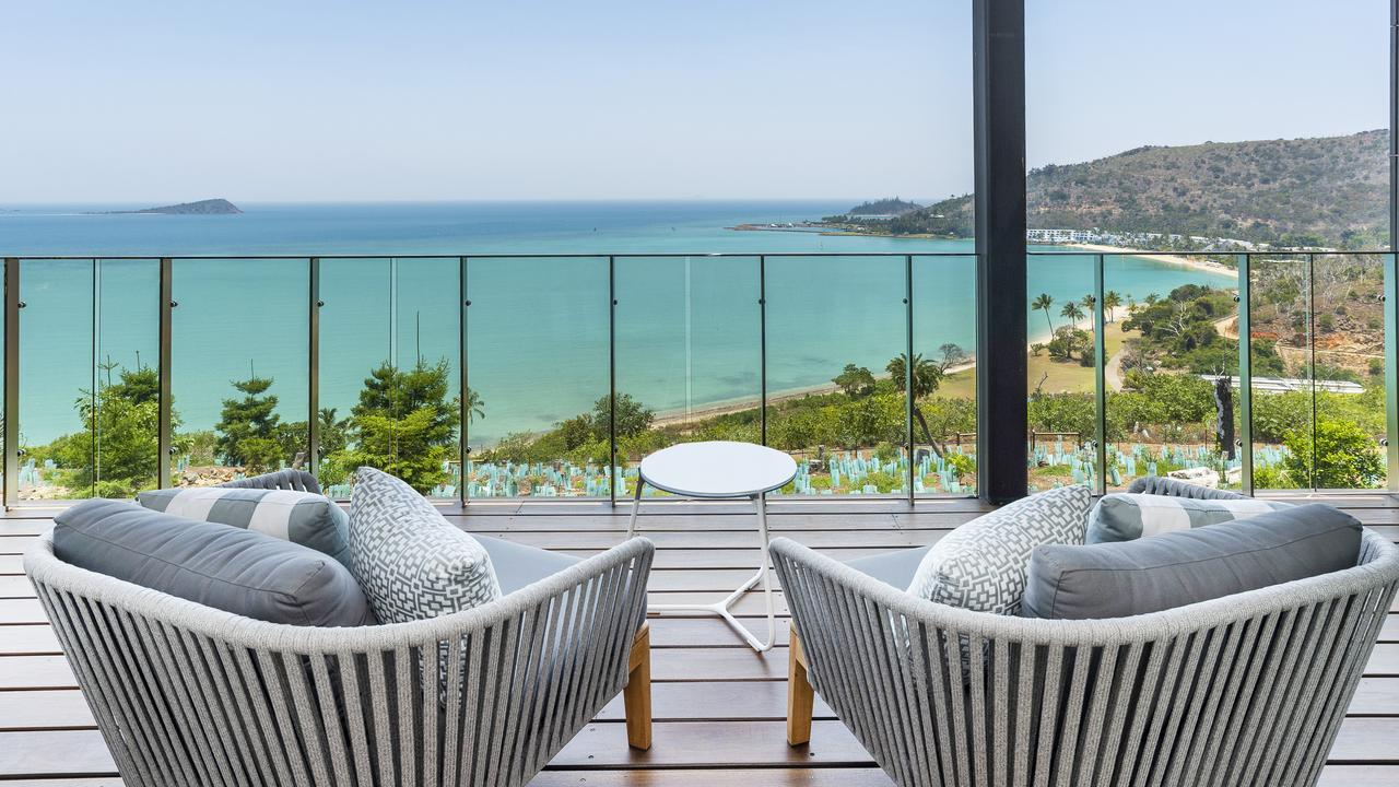 The view from the exclusive residential enclave on Hayman Island.