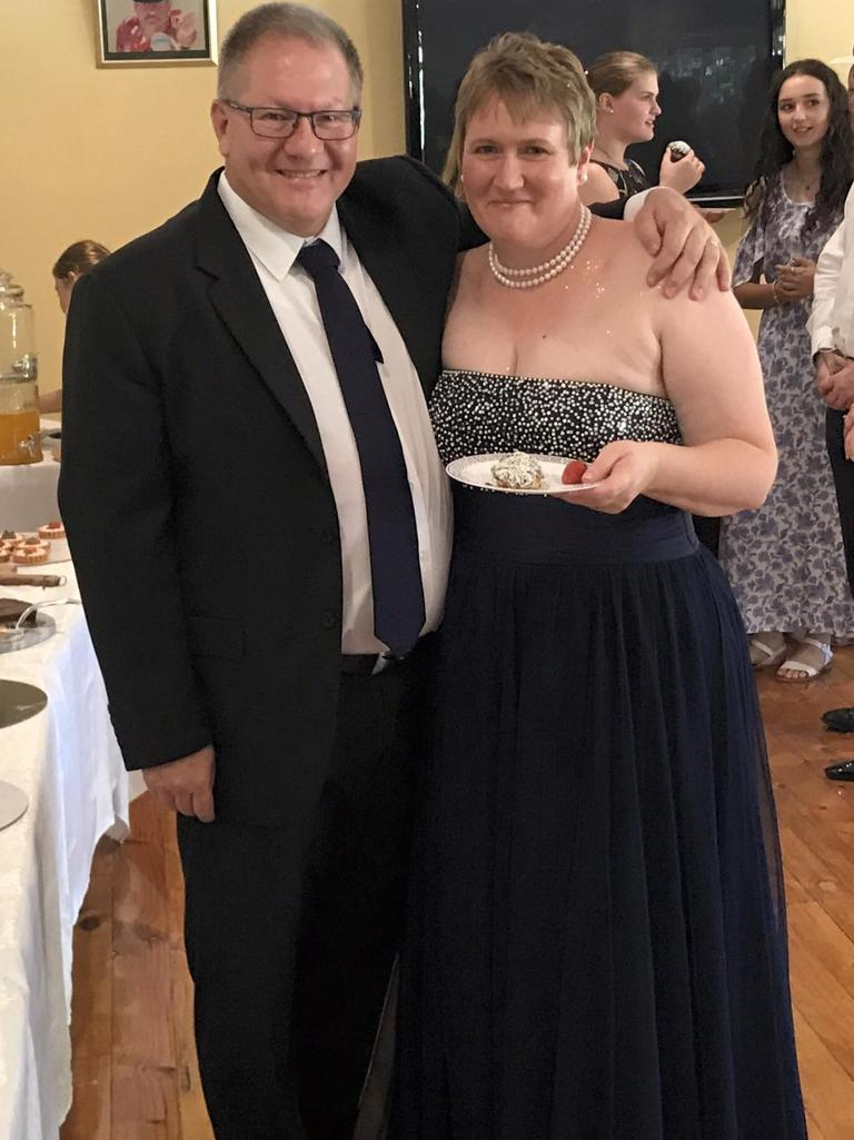 Gavin Dallow and Lisa Hosking at their wedding in March 2017. Picture: Facebook