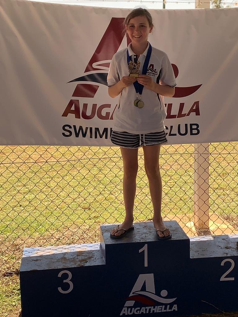 Girls 10 years age champion - Jaylee Smith from Augathella.
