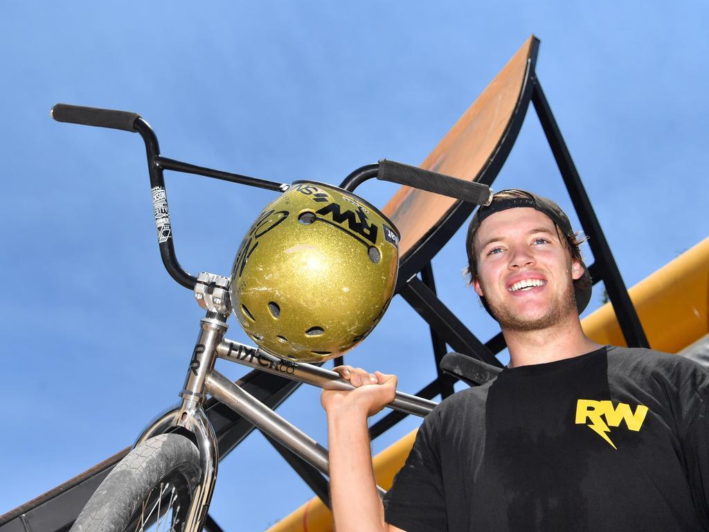Coast BMX and scooter legend Ryan Williams at his training facility. Photo: John McCutcheon / Sunshine Coast Daily