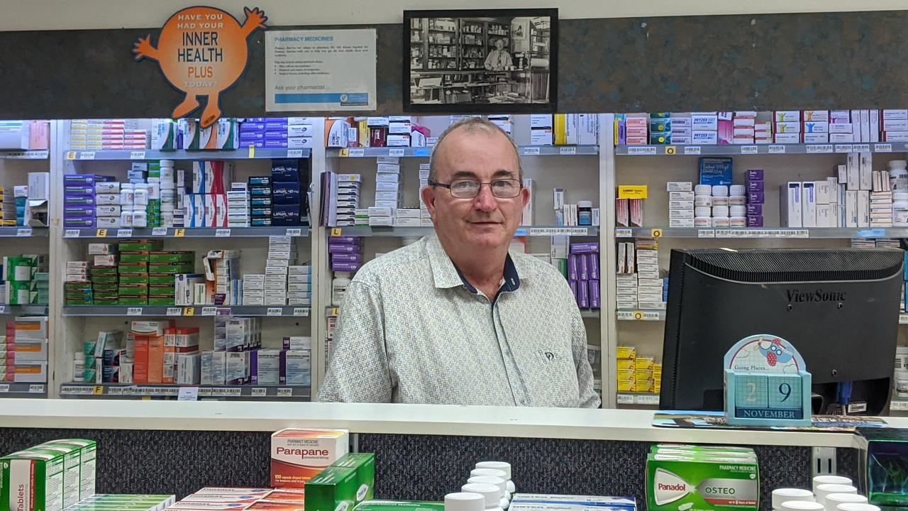 IMPROVEMENT OPPORTUNITY: Blackall pharmacist Ian Kinsey says all the town needed was some rain and economic stimulus