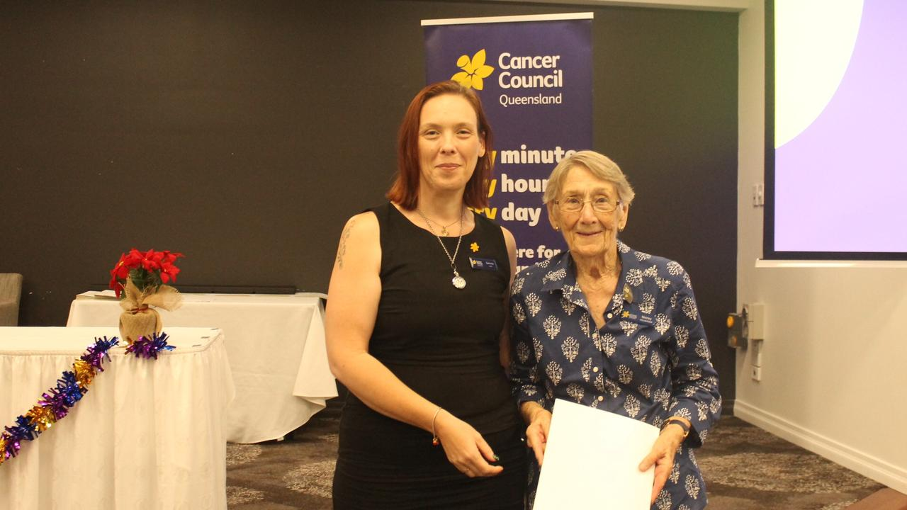Gemma Lock with long-serving volunteer, Shirley Shannon.