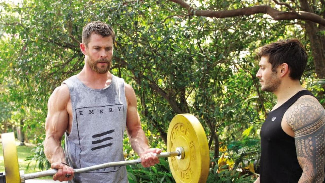 Luke Zocchi trains his mate and client Chris Hemsworth