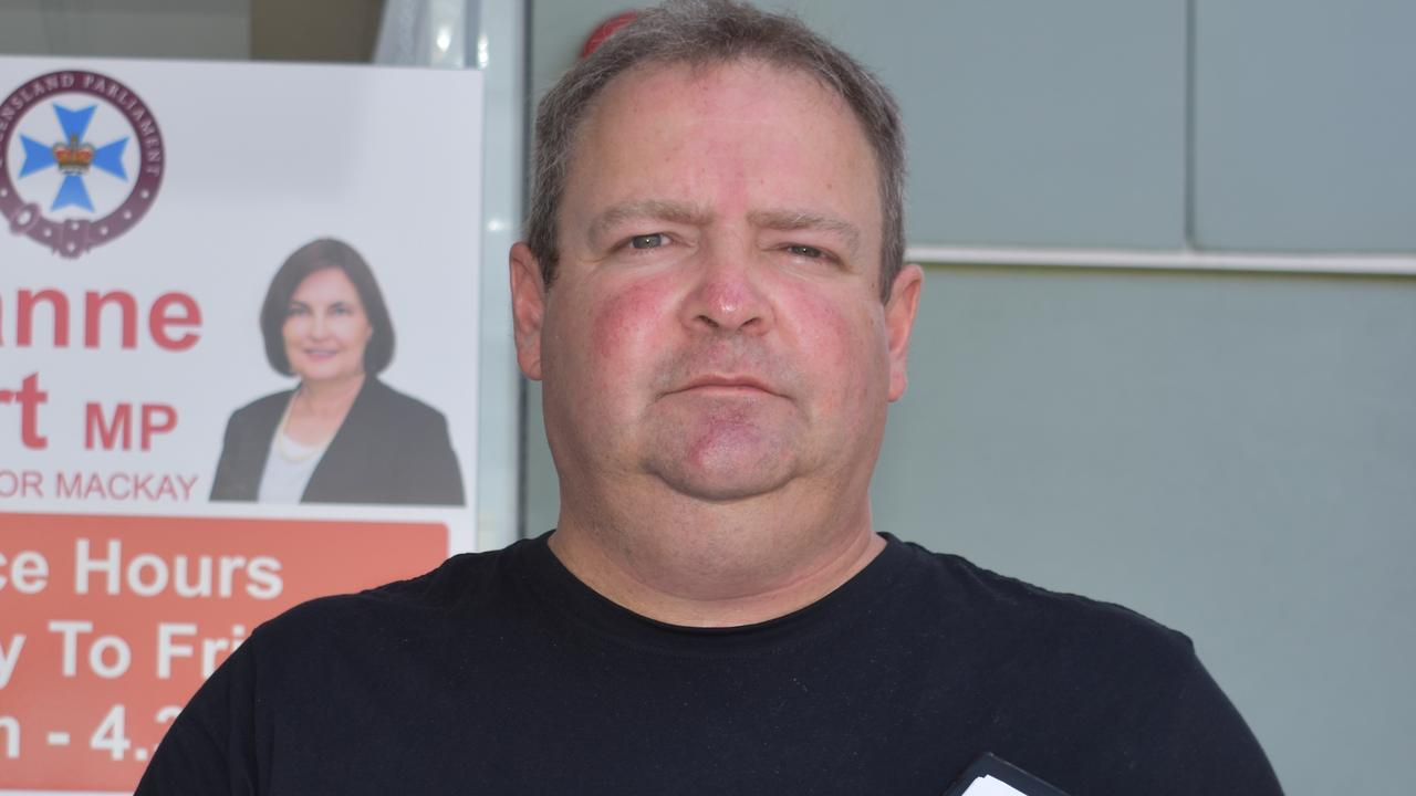 WATER SCHEME: Mackay Conservation Group community organiser Michael Kane.