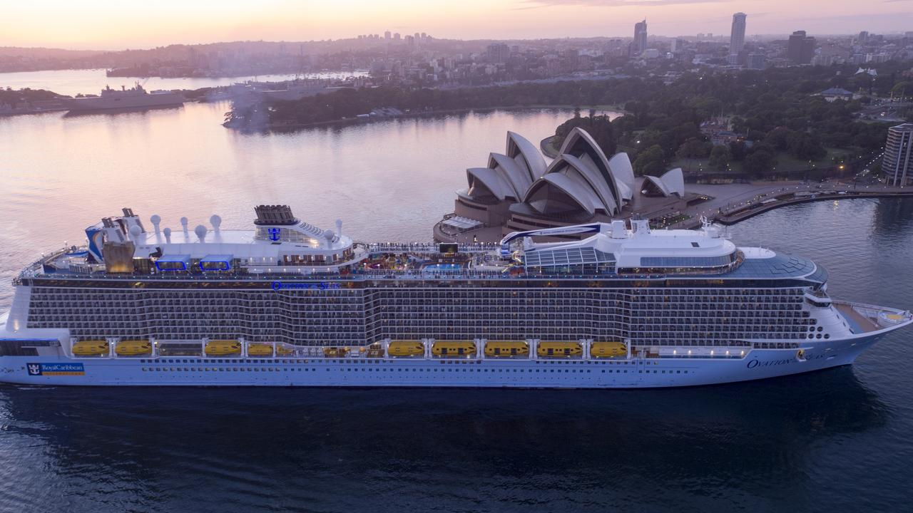 Ovation of the Seas, Sydney. Picture: Royal Caribbean