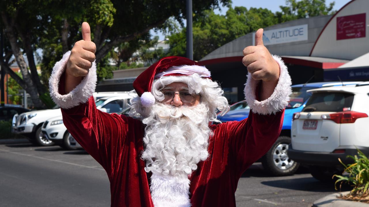 CHRISTMAS CHEER: Santa gives Emerald drivers two thumbs up.