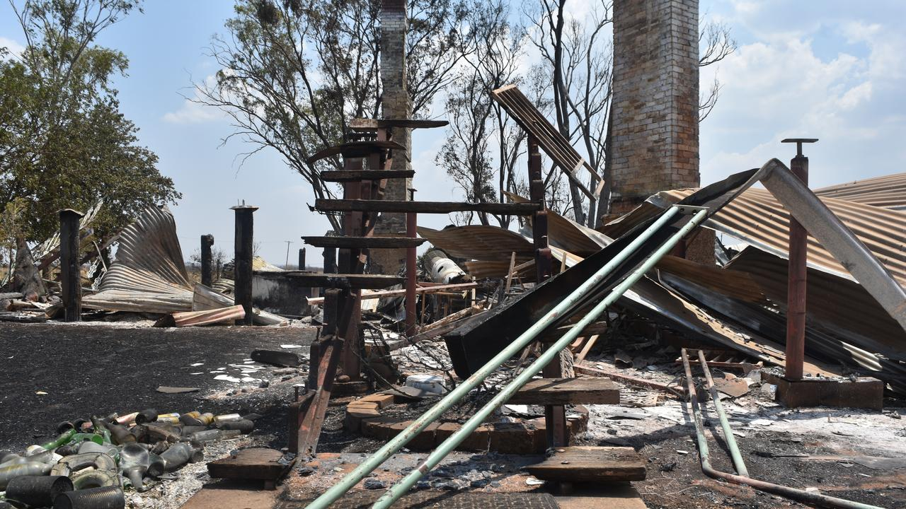 A house in Kaimkillenbun was burnt to the ground overnight.