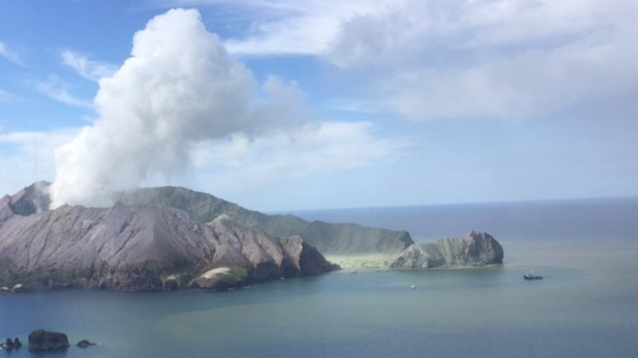 White Island just after the eruption. Picture: Auckland Westpac Rescue Helicopters