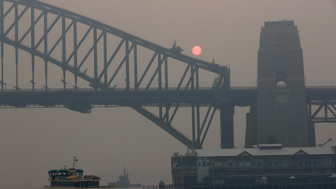 Heavy smoke has been blanketing Sydney for weeks. Picture: Toby Zerna