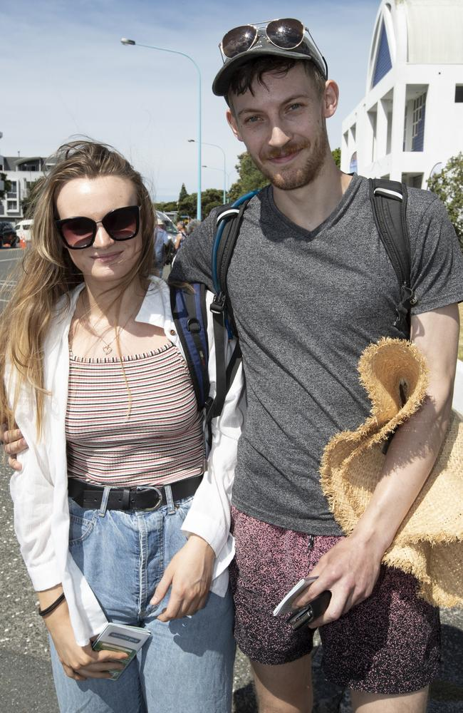 Australian couple from the Blue Mountains Bree Laugier and Michael McKenzie at the Tauranga Port. Picture: Brett Phibbs