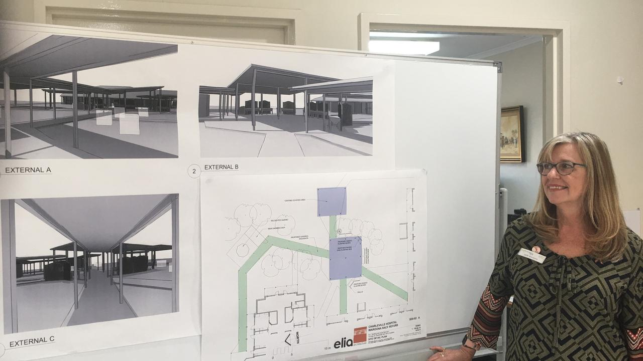 Director of nursing Tara Quirke shows off the designs for the new and improved Waroona Aged Care.