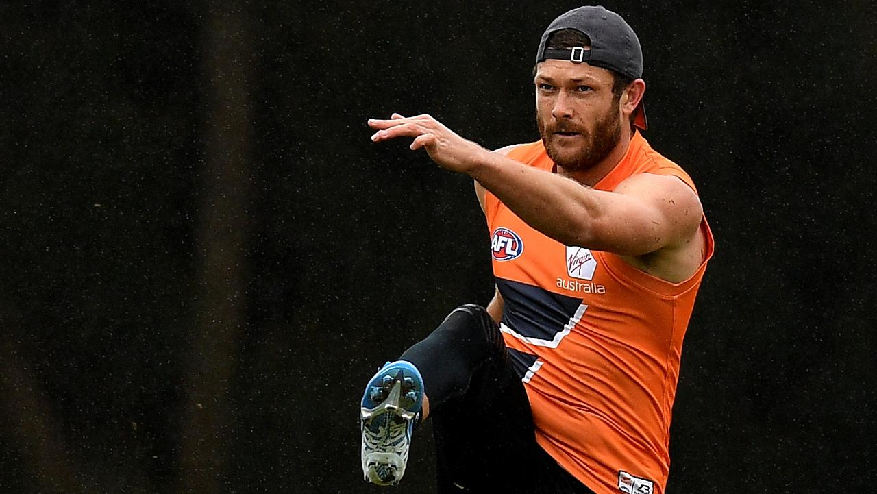 GWS Giants player Sam Reid (AAP Image/Dan Himbrechts)