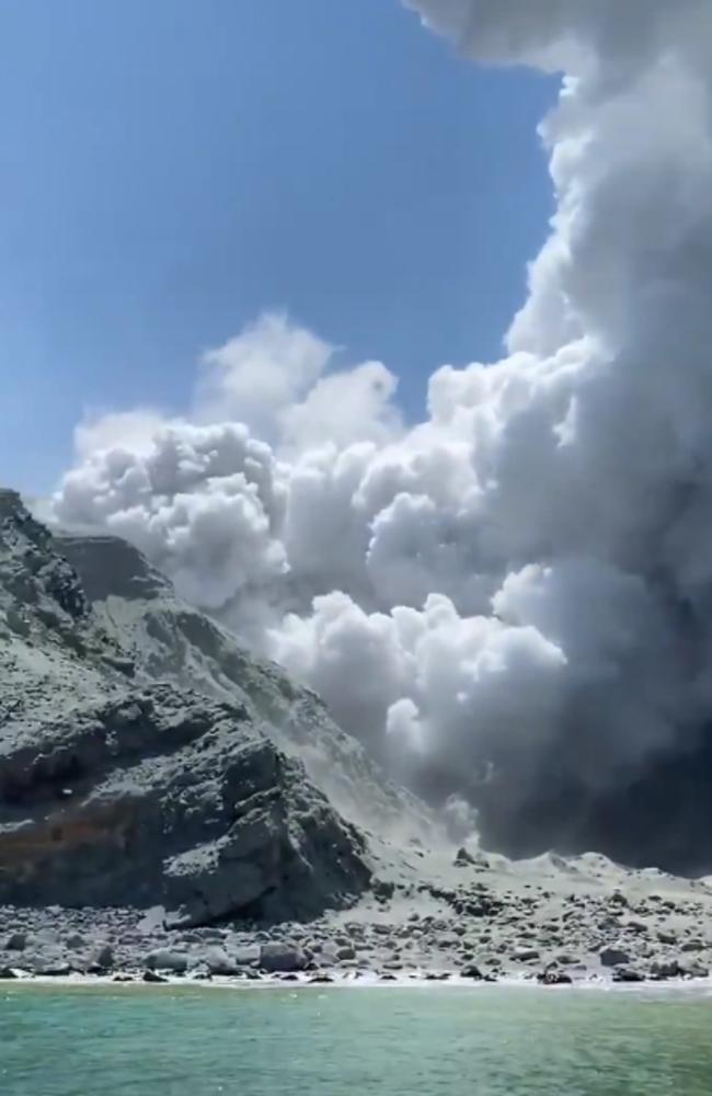 White Island Volcano eruption in New Zealand –