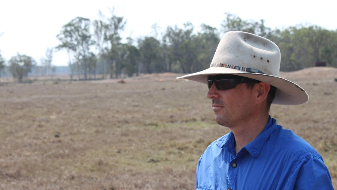 Fraser Coast farmer Joel Bengtson on his Toogoom property. He says the current drought conditions are the worst in decades.