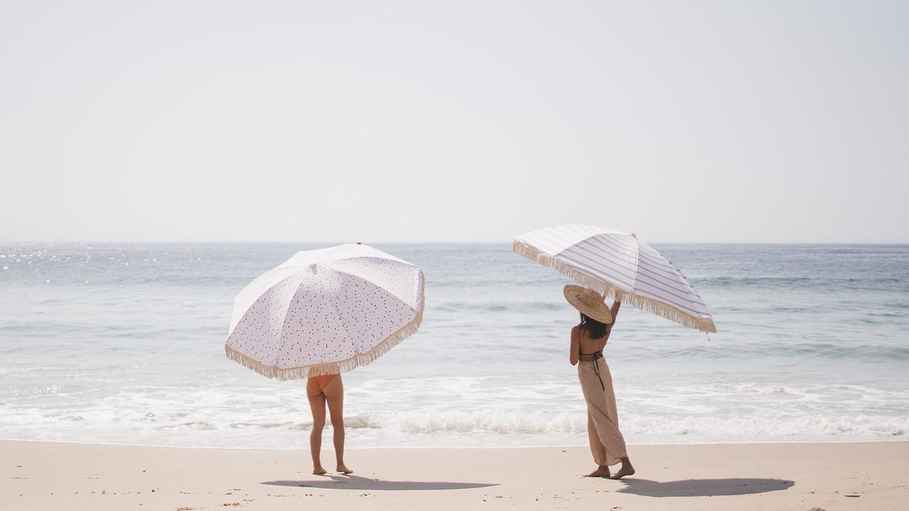 Ms Greenhead said the umbrellas were both stylish and practical. Photo: Brooke Art Studio