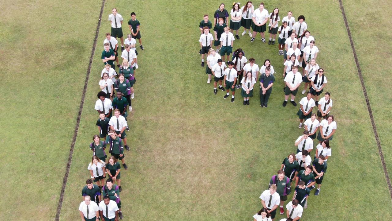 TOP JOB: The Lockyer District High School's 2019 Year 12 cohort. Over a third of the OP eligible students achieved early entry to university, making this weekend's release of OP scores a mere formality. Picture: Contributed