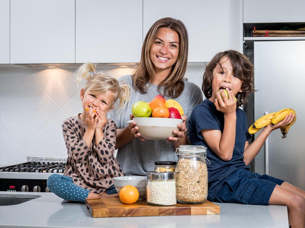 Reka Soultanidis avoids supermarket shopping with her kids to keep them away from sugary treats. Picture: Jake Nowakowski