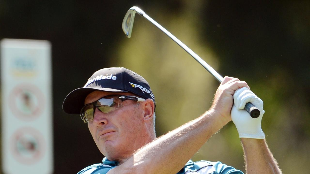BACK FROM THE USA: Golfer Peter Lonard will play at Byron Bay for the first time in the Australian Legends Tour Championship this week. Photo Dan Peled
