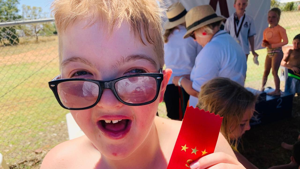 Ryan Henry at the Augathella Swimming Carnival.