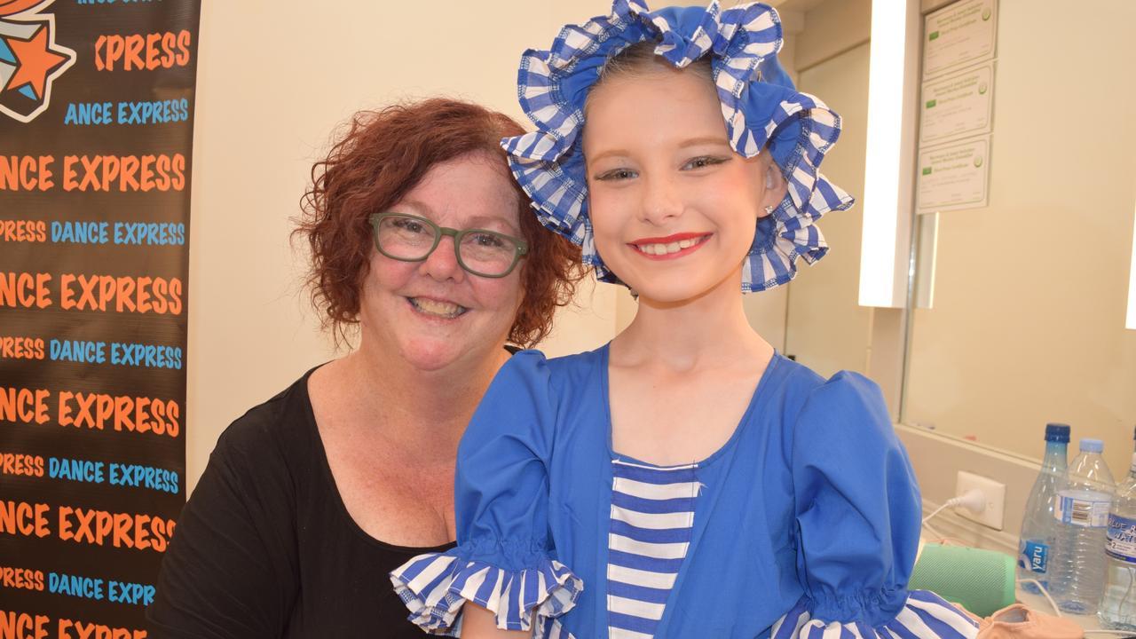 Karen Bishop (Principal of Dance Express) with student Riley Albert.