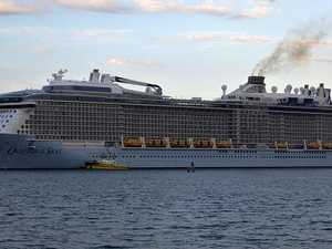 'Strange' mood on volcano blast cruise ship
