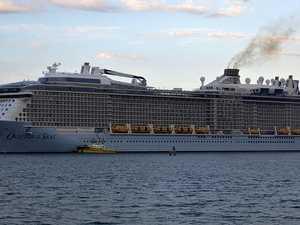 'Strange' mood on volcano blast cruise ship