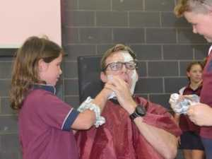 Students' close shave with the law