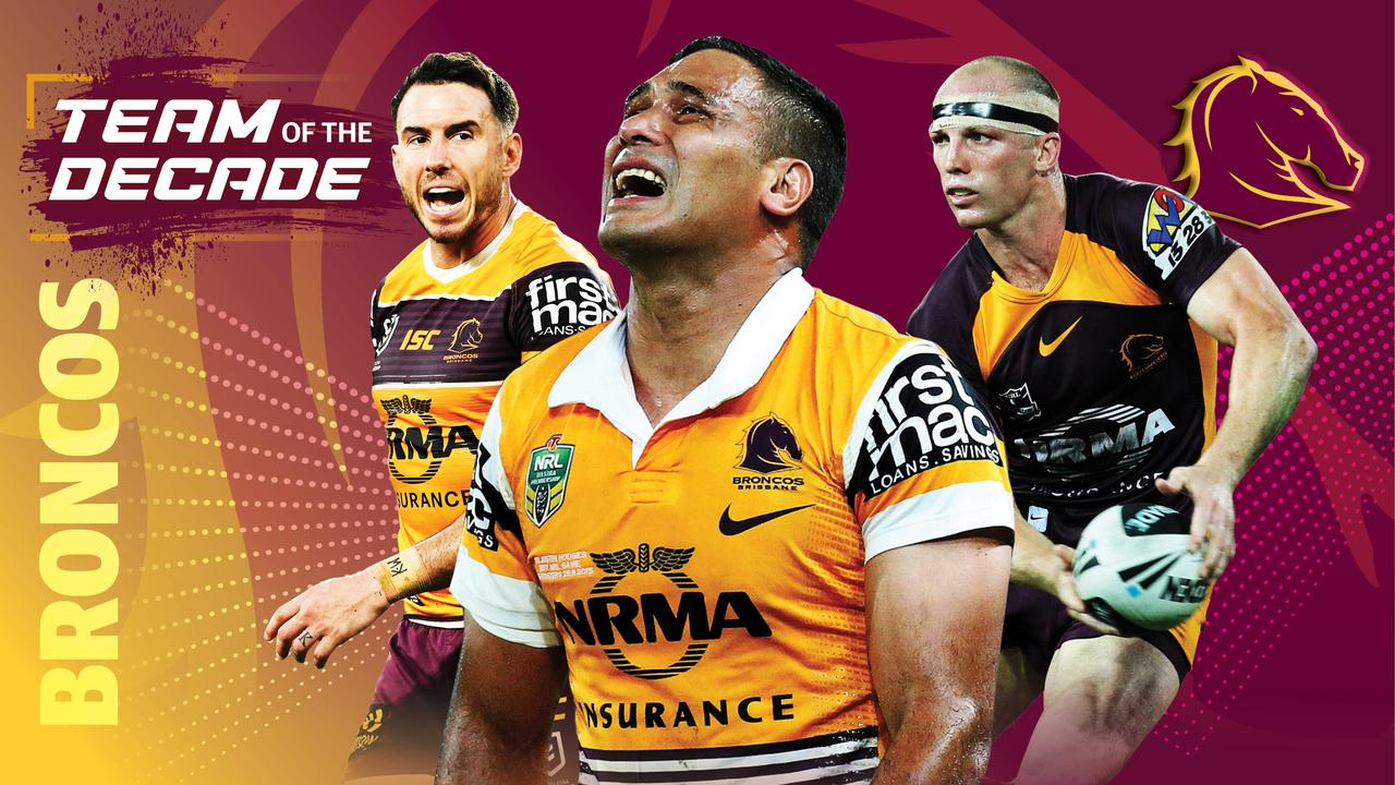 Darius Boyd, Justin Hodges and Darren Lockyer make the Broncos team of the decade.