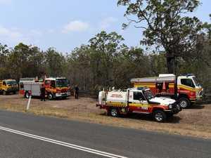 Crews at scene of bushfire