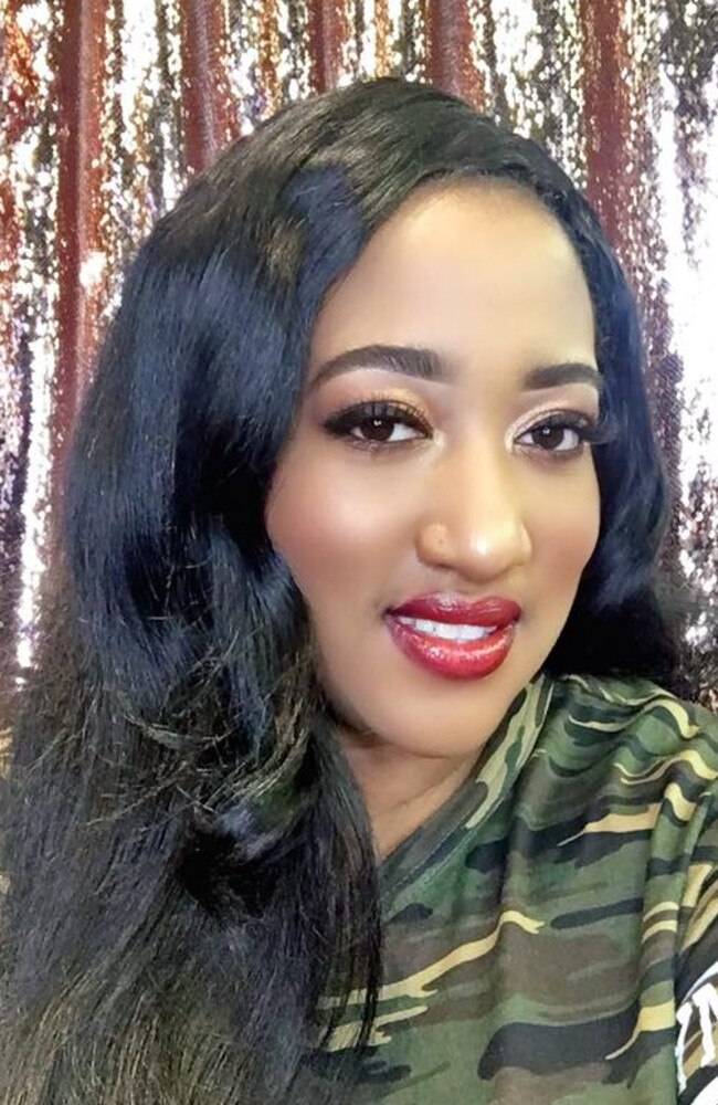 Vermyttya Miller, 37, an actress, had booked her wedding reception in Glendale, California which required a $US10,000 cancellation fee. Picture: Facebook / Vermyttya Miller