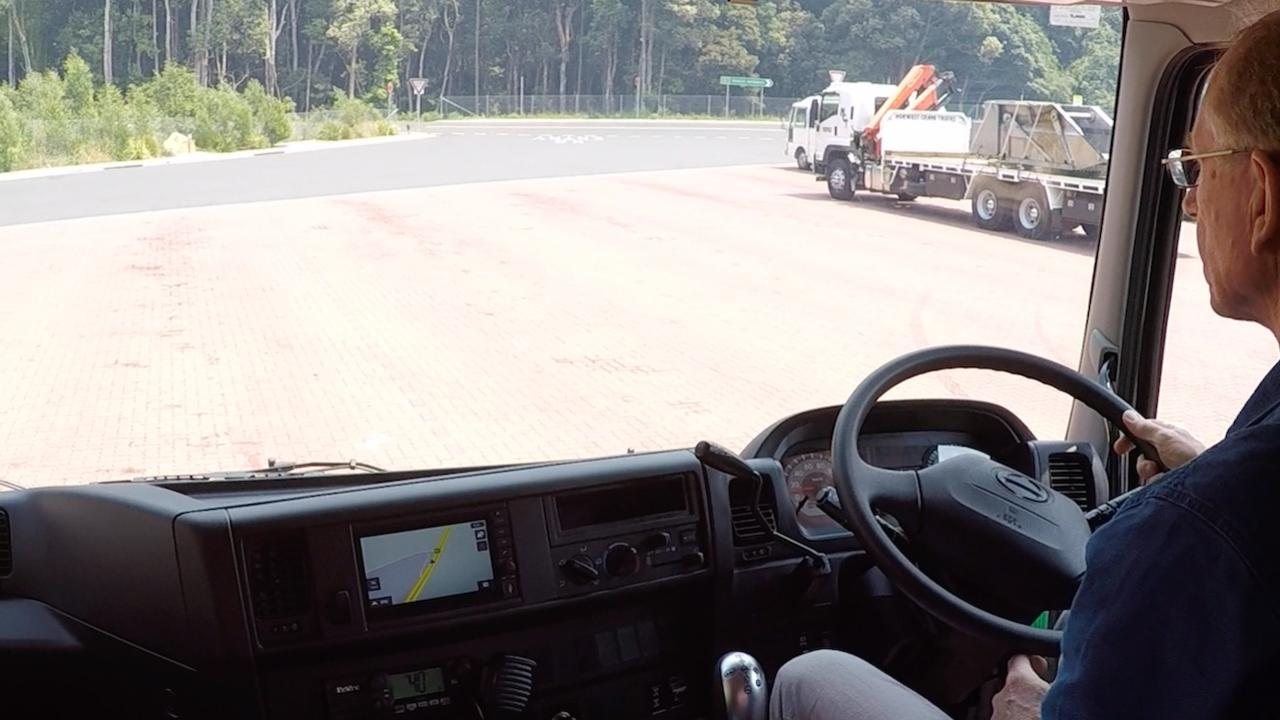 Our test driver took up the offer for a spin when told this Hino 700 had ZF's latest TraXon AMT on board.