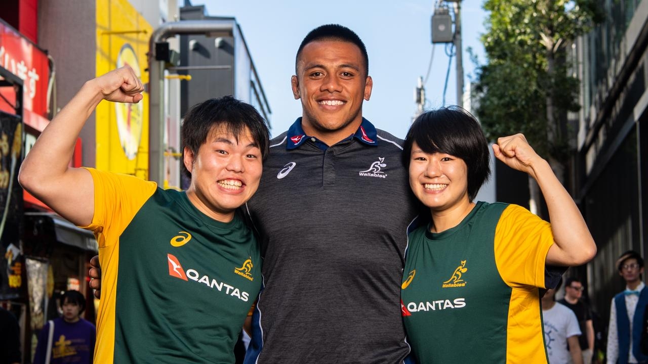 Allan Alaalatoa in Japan. Picture: Stuart Walmsley/Rugby AU Media