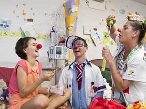 Clowning around brings feel-good humour to hospital ward