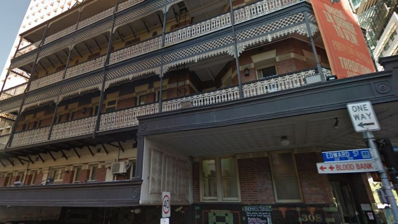 Nomads' Brisbane hostel, where bedbugs were allegedly found by a British backpacker, is based in the City. Picture: Google Maps.
