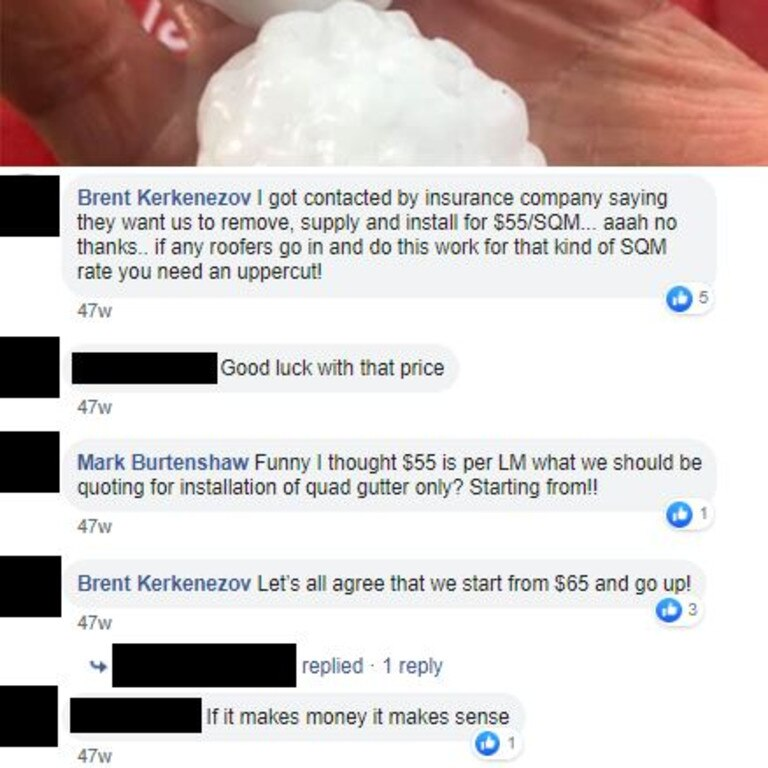 According to the ACCC, these couple of comments on a Facebook post are tantamount to price fixing.