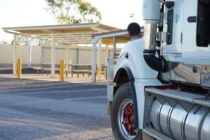The new truck rest stop at Cloncurry in western Queensland.