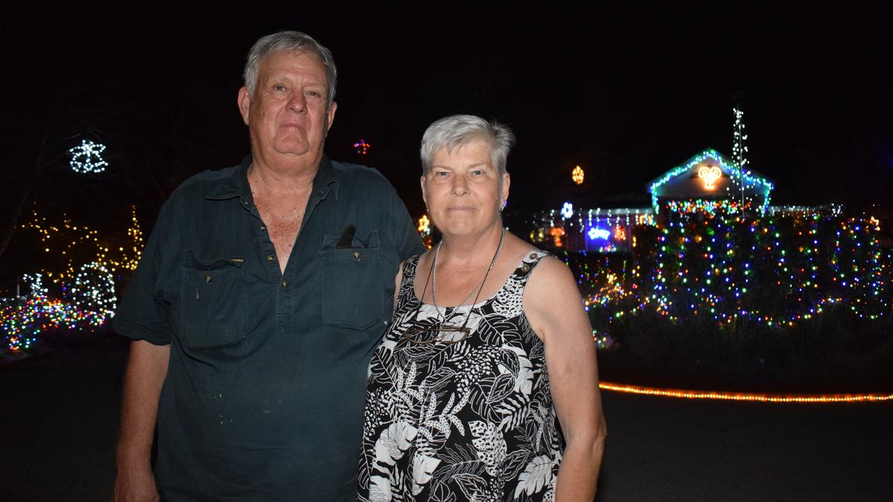 CHRISTMAS LIGHT VETERANS: Yvonne and Brian Wolski have been bring Chinchilla Christmas light joy to the Chinchilla community since 1999.  Pictures: Kate McCormack