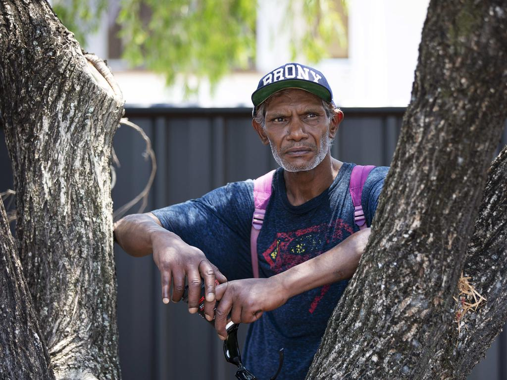 Alfred Sullivan, brother of the accused Traven Fisher. Picture: Attila Csaszar/AAP