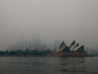 Heavy smoke haze blankets Sydney. Picture: Toby Zerna