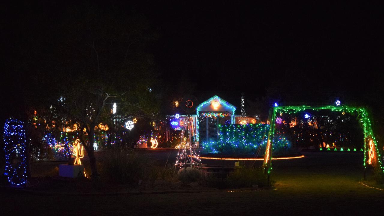 The Christmas wonderland of 159 Wondai Road Chinchilla.