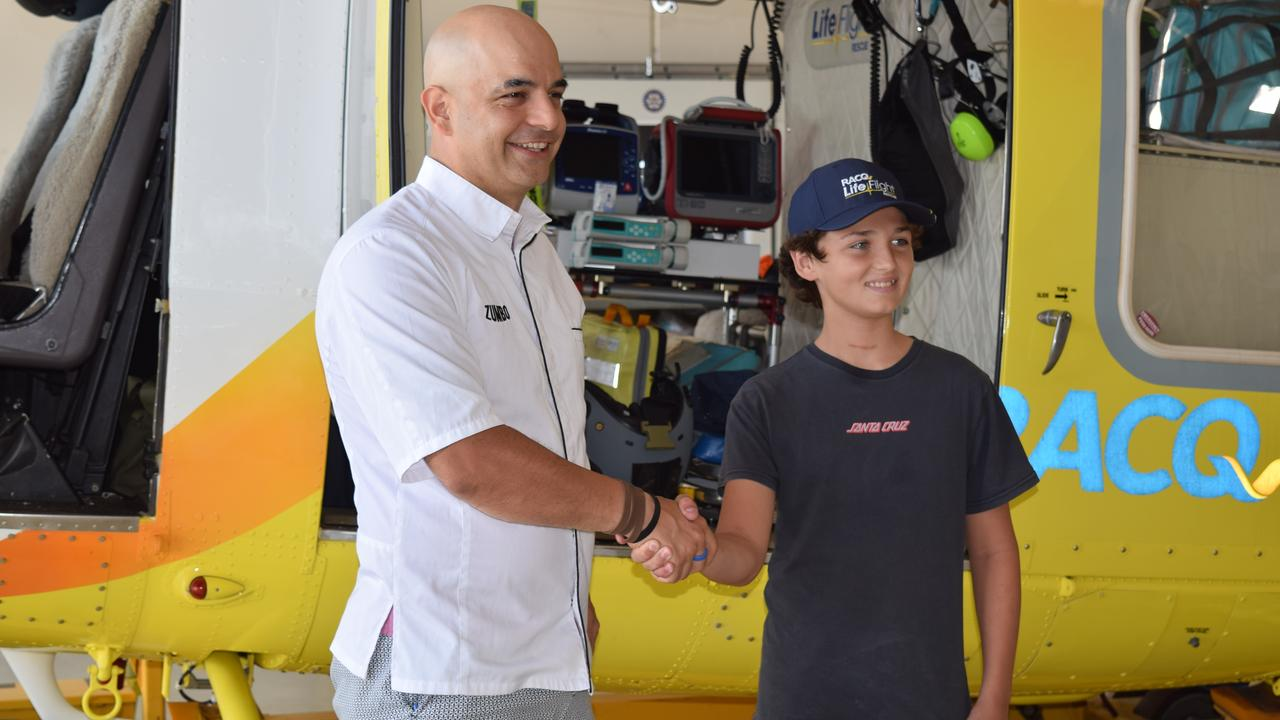 SHOCK: Connor Creagh had the surprise of a lifetime after meeting his idol Adriano Zumbo of Zumbo's Just Desserts. Photo: Eden Boyd