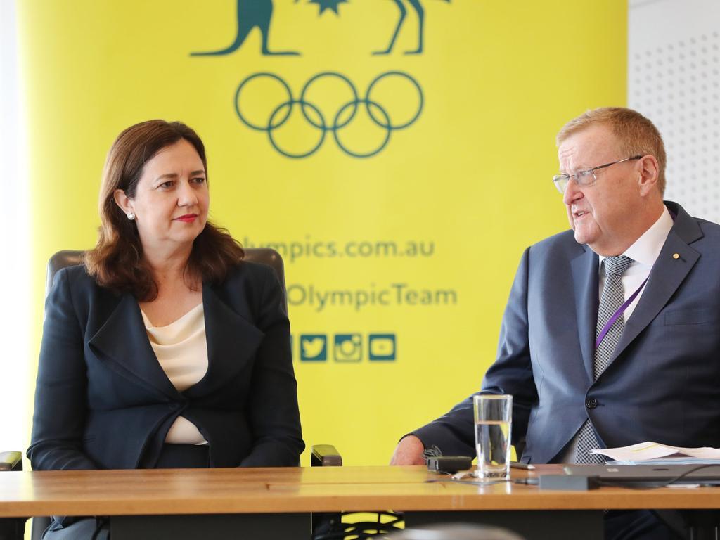 Premier Annastacia Palaszczuk with AOC president John Coates