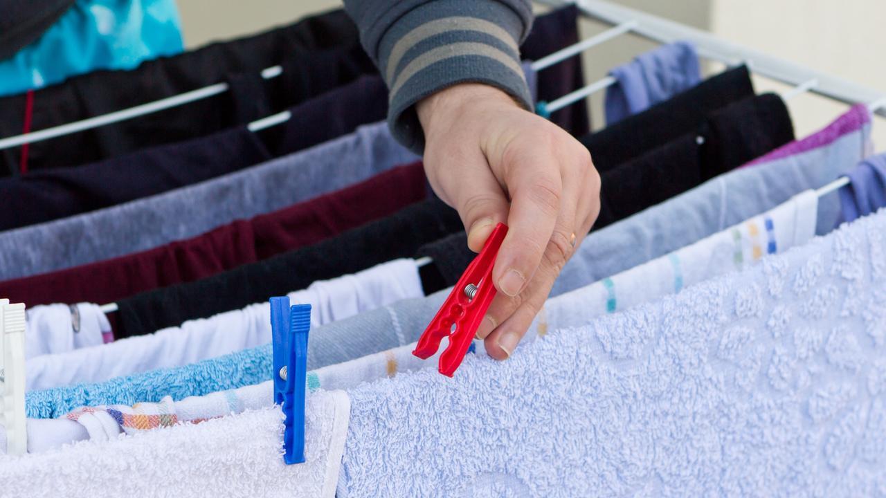 Hang your washing outside to save on energy bills.